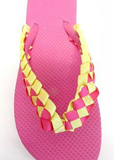 DIY Braided Ribbon Flip Flop Tutorial | Always Under Pay