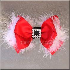 hairbow, bow print, santa babi, craft, baby hair bows, santa baby, babi hair, babys hair bows, christmas hair bows
