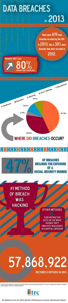 We are incredibly excited to announce the release of our first infographic 'Data Breaches of 2013'. #DataBreach #IdentityTheft #Infographic data breach, databreach infograph, infograph identitytheft, 2013 databreach