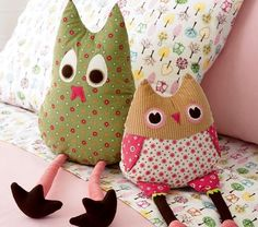 owl pillow for big girl bed, a stuffed animal I wouldn't hate to look at