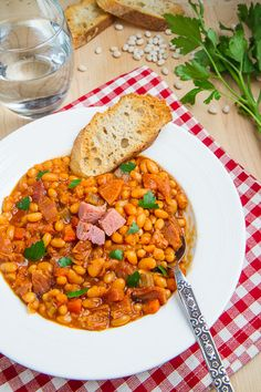 Maple and Bourbon Ham and Baked Bean Soup