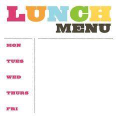 School Lunch Menu | Scribd