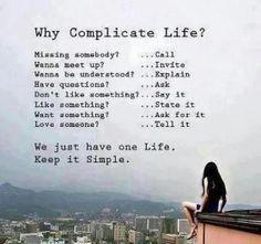 Just keep it simple...