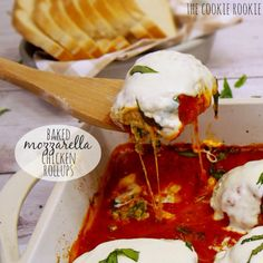 Baked Mozzarella Chicken Rollups - The Cookie Rookie