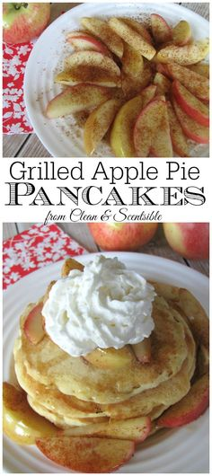 Apple pie pancakes.  Easy to do up on the grill for camping.  YUM!!