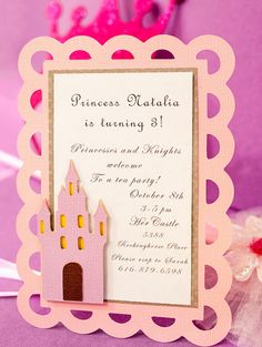 Princess Birthday Invitation.