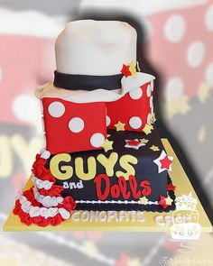 Guys and Dolls High School production cake