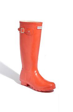 Hunter 'Original Tall' High Gloss Rain Boot in vermillion #Nordstrom