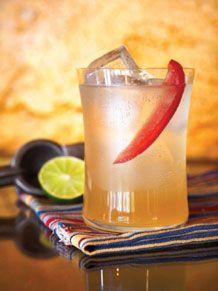 red pepper, tequila, agave, lime, club soda
