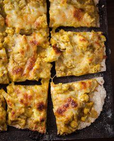 curried cauliflower pizza.