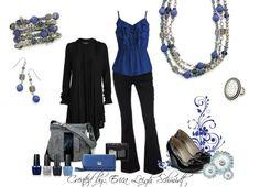 Premier Designs Denim ensemble...the New black and blue combo!
