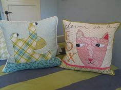 pillows made with Lucy's Crab Shack