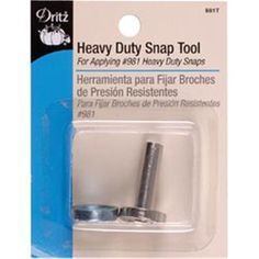 NMC090835 Heavy Duty Snap Tool   DRITZ-Heavy Duty Snap Tool. Use This Tool For Applying #981 Heavy Duty Snaps Into Fabric. This Package Contains A Metal Snap Tool. Imported.