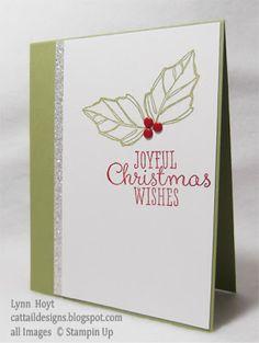 Stampin' Up! holiday and joyful christmas stamp set card