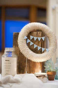 Holiday-rope wreath idea