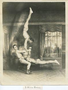 circus strong men acrobats