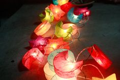 Colourful mulberry paper Moon & Star  Lanterns for by ginew, $15.50