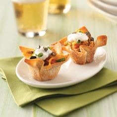 chicken taco cups -- for perfection be sure to use Ortega salsa in this recipe - ortega.com #tacocups #cute #tastymexicanrecipe