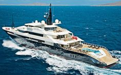 Oceanco Alfa Nero features an infinity pool on its aft deck and interior design by Alberto Pinto and Nuvolari-Lenard.