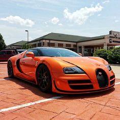 Orange burst, beautiful Bugatti Veyron