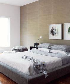 simple, modern bedroom
