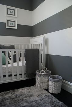 grey and white nursery...perfection