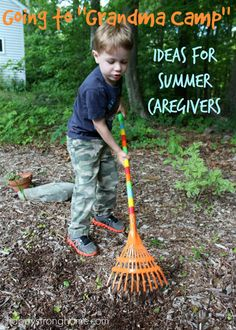 Going to Grandma Camp: Easy Ideas for Summer Caregivers *great list of suggestions