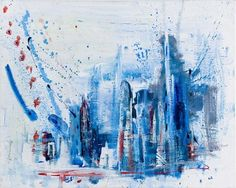 "Saatchi Online Artist Keith Kimmel; Painting, ""new city .2"" #art"