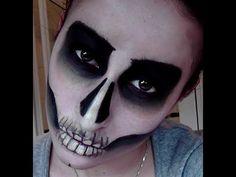 skull makeup tutorial