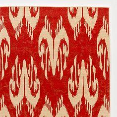 4.9' x 6.9' Red Ikat Rio Indoor-Outdoor Rug | World Market