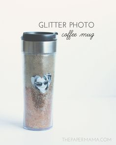How to make a glitter coffee mug