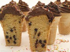 Cupcakes en forma de helado - MisThermorecetas