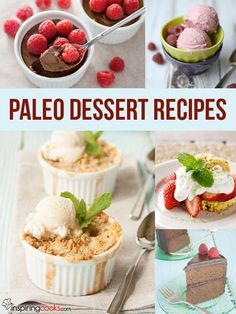 100's of Paleo dessert recipes on InspringCooks.com