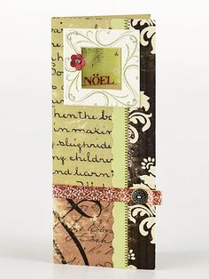 great idea for old christmas cards