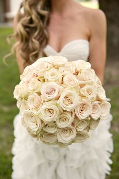 Antique and blush roses.