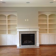 Built-ins around the fireplace