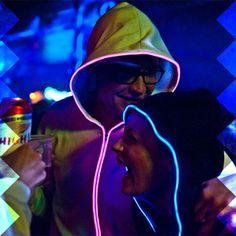 Light-up hoodies