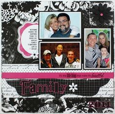 Black & White Family Scrapbook Layout Idea  from Creative Memories www.mycmsite.com/amycurrie