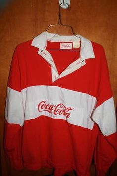 coca cola, closets, 1980s cocacola, rememb, childhood memori, cocacola shirt, rugby, 80s fashion, kid
