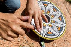 Weaving a basket  Elsie Stone Holiday explains Navajo basket weaving  http://www.handeyemagazine.com/content/heritage-keeper