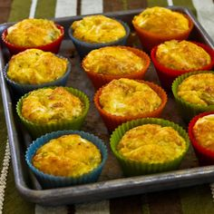 Recipe for Green Chile and Cheese Egg Muffins [from Kalyn's Kitchen] #GlutenFree  #SouthBeachDiet  #LowCarb