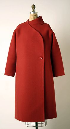 Coat  Madame Grès (Alix Barton) (French, Paris 1903–1993 Var region)  Date: 1985 Culture: French Medium: wool, plastic