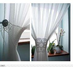 Crochet en las cortinas