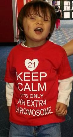 Keep Calm it's only an Extra Chromosome Down's Syndrome T-shirt DSA Youth Sizes on Etsy, $19.00