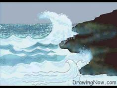 How to Draw Waves - YouTube