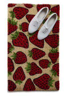 Strawberry door mat