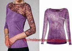 RECICLAJE CAMISETA ~ Fashion Moldes para Medir