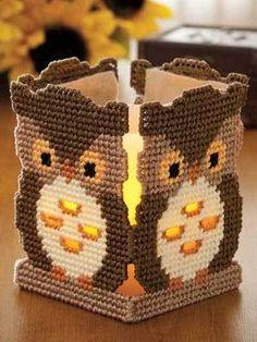 plastic canvaslong, canvaslong stitch, canva pattern, canva owl, plastic canvas patterns, plastic canvas desings, owls, canvases, tea lights