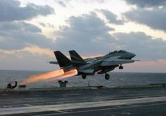 F-14 off the deck