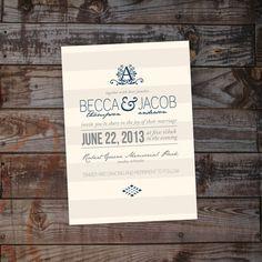 Custom Country Vintage Shabby Chic Wedding Invitation